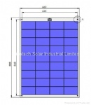 80W Semi Flexible solar panel
